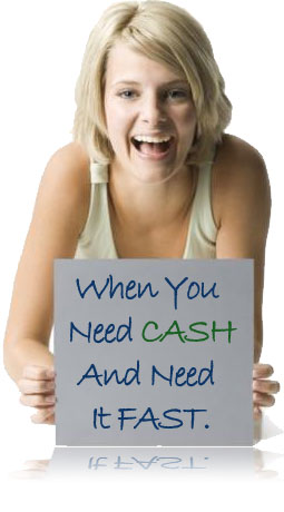 Happy Payday Loan Lady